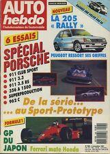 AUTO HEBDO n°598 du 4 Novembre 1987 GP JAPON SPECIAL PORSCHE 205 RALLYE