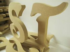 MDF WOODEN LETTERS A-Z Available Large 200mm High 18mm Thick VICTORIAN Font
