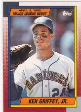Ken Griffey Jr ROOKIE CARD SEATTLE MARINER Topps 1989 Major League Debut RARE RC