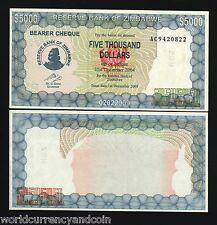Zimbabwe Set 1000 5000 10000 20000 50000 100000 Dollars P15 16 17 18 19 20 2003