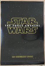STAR WARS THE FORCE AWAKENS MOVIE POSTER DS ORIGINAL EXL 27x40 EPISODE VII