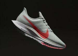 Nike Zoom Pegasus 35 Turbo Running Shoes Athletic Gym Grey-Hot Punch-White Sizes