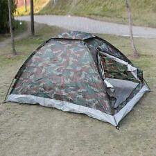 Portable Camping Tent for 2 Person Single Layer Waterproof Camouflage I6Y1