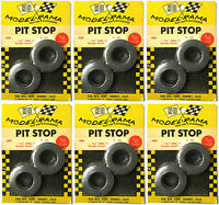 "12pc 1965 K&B Aurora 1:24 Slot Car Pit Stop Parts 1 3/8"" GERMAN SLICK TIRES #408"