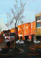 North STREET BELFAST ORIGINALE IRLANDESE ART townscape dipinto ad Olio Pannello di tela