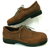 Montana Mens 12.5 W Performance Footwear Brown Suede Shoes Leather Custom Made