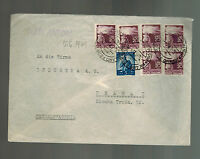1949 Italy Cover to Prague Czechoslovakia Airmail