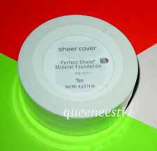 SHEER COVER Perfect Shade TAN  Mineral Foundation 4g  (Replaced Golden & ALMOND)