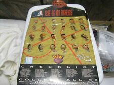 1995-96 NBA Pinheads retail board of 24 sealed pins-Midwest