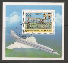 Chad SC # C237 History Of Aviation. Souvenir Sheet .MNH