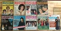 VINTAGE LOT of 9 MOTION PICTURE MAGAZINES - 1965 - 1975- JFK ELVIS CHER PACINO