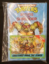 1990 Teenage Mutant Ninja Turtles Return of the Shredder Story Book New Sealed
