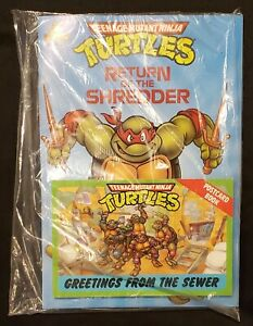1990 Teenage Mutant Ninja Turtles Return of the Shredder Story Book New Sealed
