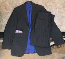 LUXURY MENS TED BAKER ENDURANCE Suit Striped Jacket Blazer And Trousers Size S