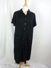 Alfani Woman Women's Pocketed Button Front Black Dress Tunic SZ L Large EUC