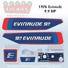 1976 Evinrude 9.9 HP Outboard Reproduction 9 Piece Marine Vinyl Decals 10624-25