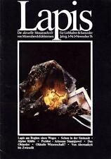 Mineralien Lapis Heft 01 Nov 1976 Steinzeit Alpin Kluft Peridot Oktaeder Arizona
