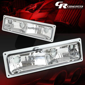 88-98 GMC/CHEVY C/K C1500/C2500/C3500 K1500/K2500/K3500 CHROME BUMPER LIGHT/LAMP