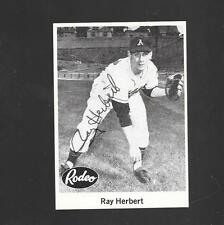 1976 JDM 1955 Rodeo Meat - RAY HERBERT - Hand Signed Autograph - KANSAS CITY A's