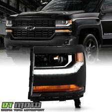 2016-2018 Chevy Silverado 1500 HID/Xenon LED DRL Headlight - Driver (Primed)
