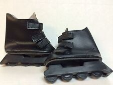 2 pair black roller blades for 18 inch dolls or bears activewear