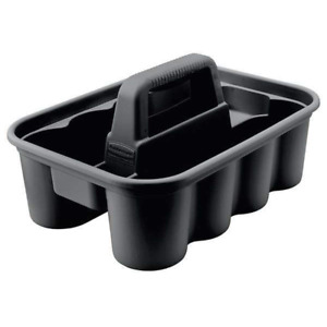 Rubbermaid Deluxe Carry Caddy for Cleaning Products, Spray Bottles, Black