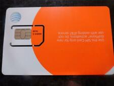 New At&T Prepaid Go Phone Sim Card Standard / Mini /2Ff Sku:6006A