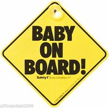 Safety 1st Baby on Board Sign yellow baby warning sign for car window