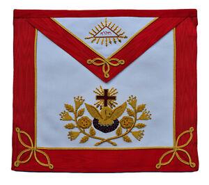 Masonic Rose Croix 18th Degree Embroidered Apron Real Leather Masons Regalia