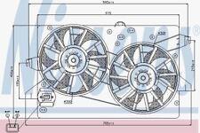 NISSENS 85228 Ventola radiatore FORD MONDEO AUT 00- 2xø285