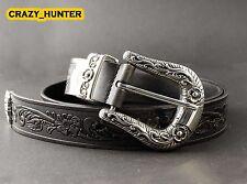Men's Geniune Leather Belt Biker Rocker Style Thick High Quality Cowhide
