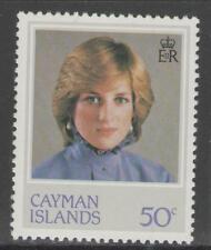 Isole Cayman sg552w 1982 Principessa Diana oppure wmk CAPOVOLTA MNH