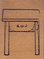 """end table stamps in motion Wood Mounted Rubber Stamp 1 1/2 x 1""""  Free Shipping"""
