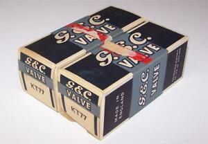 2 vintage NOS GEC Genalex  KT77  tubes -tested- matched- 6ca7/el34