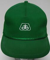Vtg 1980s PIONEER Agriculture CORN SEED FARM Advertising Green HAT CAP K-BRAND