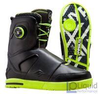 2016 Hyperlite Kruz Wakeboard Boots (Black and Yellow)