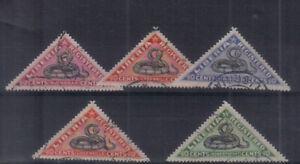 Liberia 1921 Snakes Registration set used