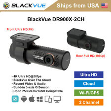 BlackVue 2 Channel DR900X-2CH 4K Ultra HD WiFi GPS Dashcam