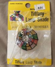 [COL] Miniature Tiffany Lamp Shade Doll House Decor Hand Painted Hong Kong - NOS