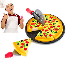 6PCS Childrens/Kids Pizza Slices Toppings Pretend Dinner Kitchen Play Food Toys