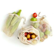 Reusable Certified Organic Cotton Mesh Produce Bags - Set of 6 | Eco-Friendly