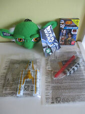 Squashy Washy Yoda Star Wars Y Wing Fighter McDonalds Light Saber Card Game NEW