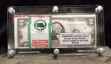 Currency Display Banknote Bundle Strap Case Acrylic Frame Holder Armored Brand