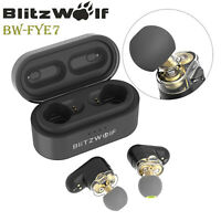 Blitzwolf Wireless Bluetooth 5.0 Stereo Bass Earphone Earbud + Charger with Mic