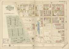 1884 READING BERKS COUNTY PA, ST. JOHN'S GERMAN LUTHERAN CEMETERY COPY ATLAS MAP