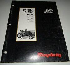 Simplicity 17GTH-L & 7100 7117 7116 Tractor Parts Catalog Book Manual Original!