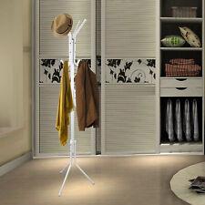"""67"""" Metal Coat Rack Free Standing Tree Hat Umbrella Holder Hanger Hooks White Us"""