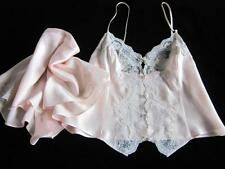 Victoria's Secret Gorgeous Pure Silk Camisole + Knickers Sleep Set S Pink Lacy