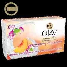 11 OLAY Ultra Moisture SWEET PEACH Bar Soap, 4 oz bars