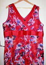 NWT SARA Chiffon Overlay Floral Dress Size 20